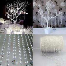33FT Garland Diamond Acrylic Crystal Bead Curtain Wedding DIY Party Decor
