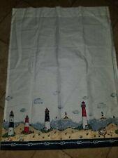 "Nautical Lighthouse Window Curtain  Pair of  panels 28""x36"""