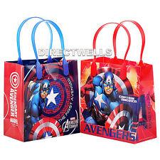 6 Pack Spiderman Comic Marvel chicos Botín Bolsas Fiesta Bolsa Plástica de Regalo tratar Dulce