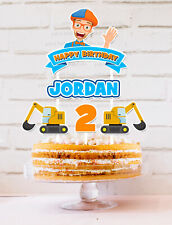 BLIPPI PERSONALISED CAKE TOPPER BANNER PARTY LOLLY TAGS LOOT TOPPER FAVOUR
