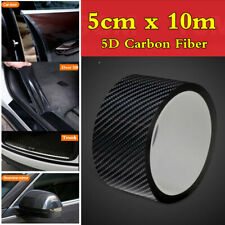 Car Door Sill Side Skirt Bumper Trunk Carbon Fiber Edge Guard Moulding Strips