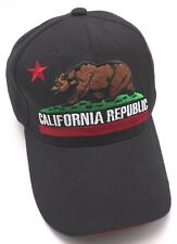 CALIFORNIA REPUBLIC black adjustable cap / hat
