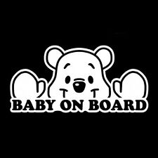 Baby on Board Disney Cute Sign Vinyl JDM Ute Car 4x4 Decal Sticker Gift Funny