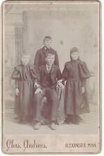 Cabinet Photo of Four Brothers and Sisters from Alexandria, Minn 1880-1899