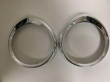 Headlight Ring Set For Peugeot 404 - NEW - (#957)