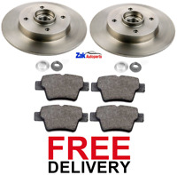 FOR PEUGEOT 207 REAR BRAKE DISCS FITTED WHEEL BEARINGS & ABS RINGS & PADS NEW
