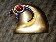 Vintage Metropolitan Museum of Art MMA EGYPTIAN Falcon Red Jelly Eye Pin Brooch
