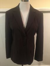 BCBG Maxazria Brown Stripe Blazer Jacket Size 6