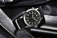 42mm CORGEUT Sapphire Glass Luminous Automatic Movement Black Dial Men's Watch