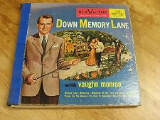 DOWN MEMORY  LANE  with  VAUGHN  MONROE  (4) DISC  SET  78