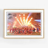Liverpool FC 2020 Champions Autographed Poster Art Print. Great Memorabilia