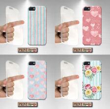 Cubierta para,Iphone,vintage,silicone,suave,cartulina,tiras,corazones,elegante