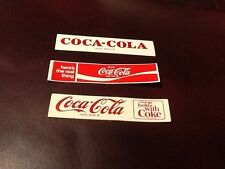 Coca-Cola vending paper inserts.  3 different Logo's 2 from the 1950's. Rare