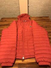 Lacoste Men's Red Puff Coat Sz XL