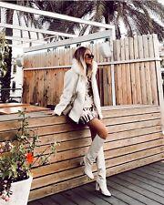 Zara Jacke Kunstfell Fell Fake Fur Weiß M Blogger NP. 89,95€