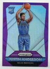 2015-16 Panini Prizm JUSTIN ANDERSON Rookie Card RC PURPLE REFRACTOR #/99 76ers