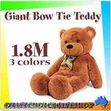 1.8M Giant Huge Plush Bow Tie Teddy Bears Animal Brown White Gift Present Big