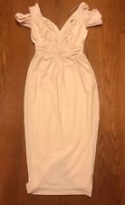 Asos Blush/Peach/Nude Color, Off Shoulder Midi Dress Sz. 0 NWT