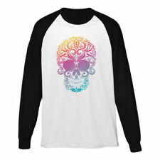 Long Sleeve Skull Graphic Tees for Men