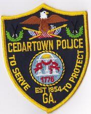 Cedartown GA Georgia Police Patch NEW