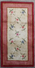 Tapis ancien rug Europeen European Français France Aubusson Point Noue 1940