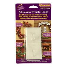 Confezione da 2 Cancella adesivo rimovibile Natale CORONA ganci – porte pareti di vetro