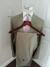 PAUL SMITH COTTON SUIT 38 R NEW / BNWT MADE IN ITALY BEIGE SUMMER SUIT