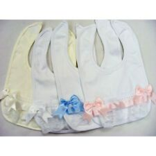 X3 bibs Spanish baby boys and girls lace ribbon bibs X3  bundle romany