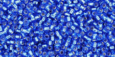 Toho 15/0 Silver Lined Sapphire Blue Round Glass Seed Bead 15-35 8 grams