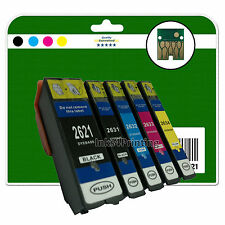 Any 5 Ink Cartridges for Epson XP-510 XP-520 XP-600 XP-605 non-OEM E2621-4