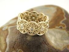 Reinheit VS Echtschmuck-Ringe im Band-Stil aus Gelbgold
