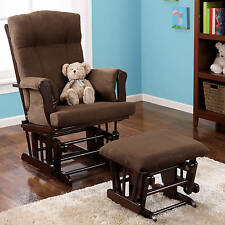 Rocker Glider Chair And Ottoman Microfiber Baby Nursery Furniture Modern NEW