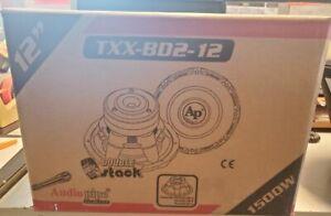 """AUDIOPIPE TXX-BD2-12 1500W 12"""" WOOFER *NOT WORKING*"""