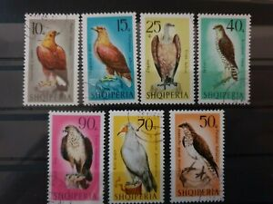 Albania 1966 Birds of Prey.  7 stamp set CTO