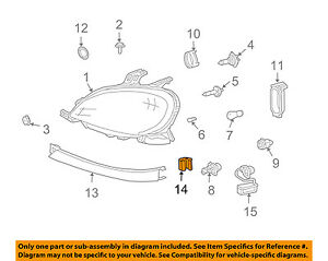 Mercedes MERCEDES-BENZ OEM Headlight Head Light Lamp-Molding Bracket 1638260014