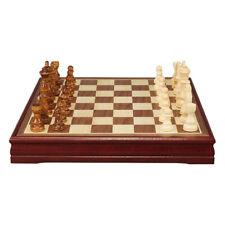Jeu d'échecs International en Bois Chessman Cadeau  30x30x4cm