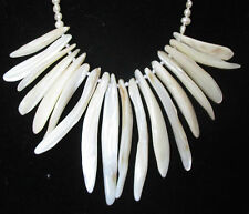 Pearl & White Mother-of-Pearl Necklace
