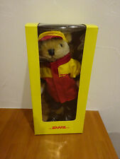 DHL uniform Plush doll Bear with box stuffed animal