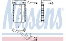 NISSENS Radiador de calefacción FIAT SEDICI SUZUKI SX4 73991