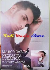 CARTONATO PROMO MARCO CARTA Necessita' lunatica 67 X 97 CM cd dvd vhs lp live mc