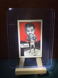 1949 ORIGINAL JOE LOUIS CARD BOXING BOXERS HOF SPORT VINTAGE CUMMINGS