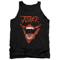 BATMAN JOKER BAT LAUGH Licensed Men's Graphic Tank Top Sleeveless Tee SM-2XL