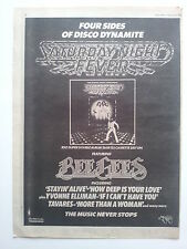 """BEE GEES """"Saturday Night Fever"""" #2 original 1978 Trade Press Advert Poster Size"""