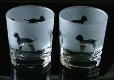 More details for bedlington terrier dog gift whisky glasses