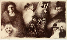 Frank Howell Gathering Original Signed Numbered Art Lithograph SUBMIT OFFER!