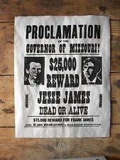"(664) OLD WEST OUTLAW JESSE JAMES $25,000 REWARD WANTED REPLICA POSTER 11""x14"""