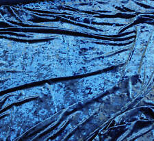 """VELVET CRUSHED STRETCH FABRIC ROYAL  58"""" BY THE YARD"""