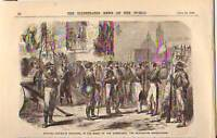 1860 Illustrated News - Garibaldi receives Neapolitans