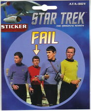 Star Trek TOS Landing Party Fail Photograph Peel Off Sticker Decal, NEW UNUSED