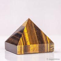 217g 57mm Natural Tiger Eye Quartz Crystal Pyramid Healing Gemstone Chakra Decor